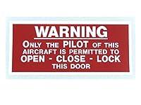 『PILOT ONLY TO LOCK/UNLOK DOOR』 DECAL 航空機用 ステッカー