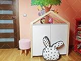 Landhaus Kommode Schrank Regal Shabby Weiß für Kinderzimmer Sideboard hausbett 100x80x57 cm (L/H/W)