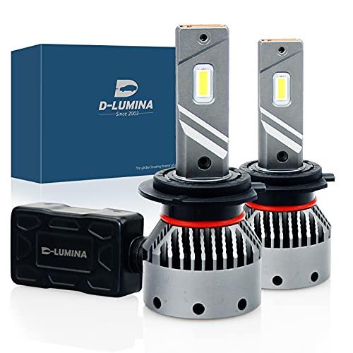 D-Lumina Lampadina LED H7 100W 16000LM Auto Lampada per auto Conversione luci lampadina 6000K - 5 anni di garanzia,2 pezzi