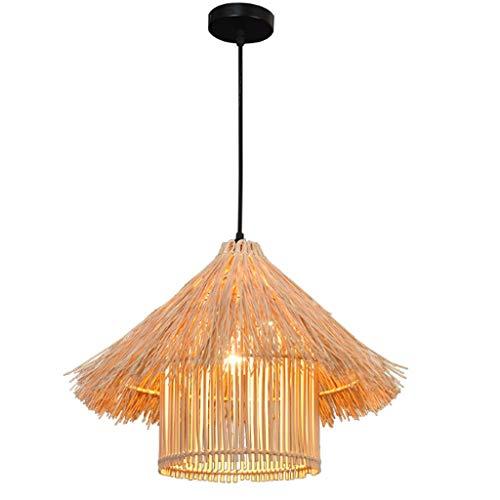 YUTRD ZCJUX Moderna Minimalista Hecha a Mano de bambú de la lámpara, pequeñas y Redondas Creativo de la lámpara Rota