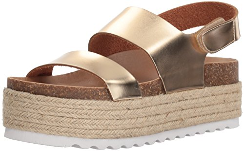 Dirty Laundry by Chinese Laundry Women's Peyton Espadrille Wedge Sandal, Gold Mirror, 10 M US