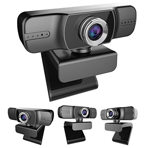 HelloCreate 1080P Full HD Camera, Webcam met Microfoon Handmatige Focus Webcam USB Driver-free Web Camera voor Conferencing Video Onderwijzen Chat bellen