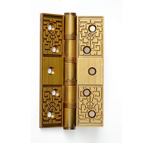 Zhenmu home Bisagra Italiana Retro Bisagra Europea Antigua de 5 Pulgadas de Espesor 4 mm Silent Bearing Door Bisagra 1 Pieza (Color : A, Size : 2pcs)