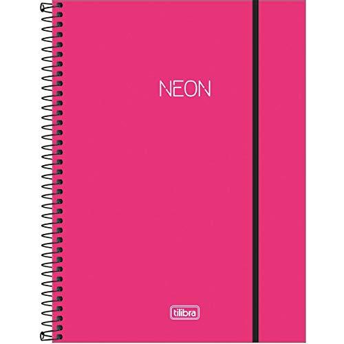 Caderno Universitário Capa Plástica, 160 Folhas, 10 Matérias, Tilibra, Multicor, Pacote de 1