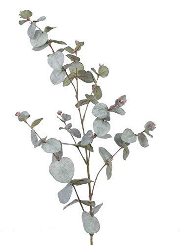 artplants.de Künstlicher Eucalyptus - Zweig ILMO, 30 Blätter, grau - grün, 85cm - Künstliche Blätter - Kunstzweig