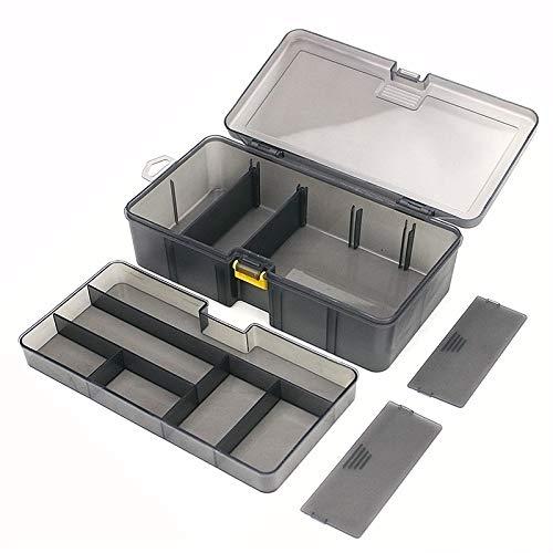 OriGlam - Caja organizadora de aparejos de pesca, cajas de aparejos de aparejos de pesca, cajas de almacenamiento para aparejos de pesca, cajas de almacenamiento
