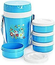 Cello Micra Insulated 4 Container Lunch Carrier, Blue