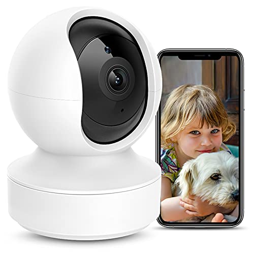MPW Caméra Surveillance WiFi Intérieure, 360°Caméra IP WiFi 1080P Compatible avec Alexa, Caméra Bébé Animaux de Compagnie avec Vision Nocturne, Détection de Mouvement, Audio Bidirectionnel