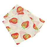 DOITOOL 3pcs Reusable Beeswax Food Wrap Organic Cotton Fabric Food Preservation Cloths Biodegradable Kitchen Storage Cover for Bread Meals Sandwich Fruits Vegetables Bowls
