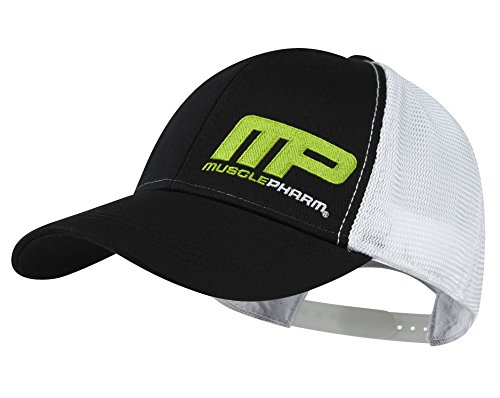 Muscle Pharm MPHAT457 Musclepharm Baseball Cap with Mesh Textilbekleidung, Black, One size