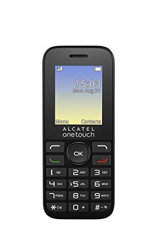 Alcatel One Touch 10.16 D 1.8' 63g Negro - Teléfono móvil (Barra, SIM Doble, 4,57 cm (1.8'), 128 x 160 Pixeles, 400 mAh, Negro)
