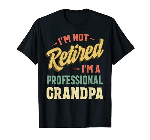 Grandpa Shirts For Men Funny Fathers Day Retired Grandpa T-Shirt