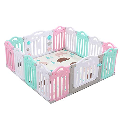 Great Deal! YERWLAN Baby Fence Child Safety Door Playground Guardrail Detachable Game Room Baby Room...