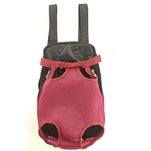 Artikel voor huisdieren, rugzakken voor huisdieren en huisdieren, ademende producten, XL, Wijn Rood