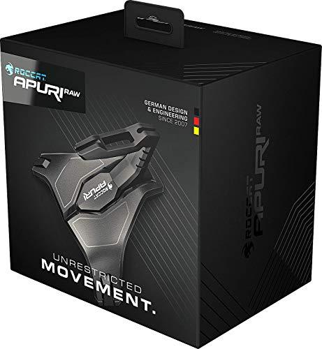 Roccat Apuri Raw - Gaming Maus Bungee mit Zero Drag, Stabilität durch Gewichte und Gummifüße, einfaches Kabelmanagement, schwarz
