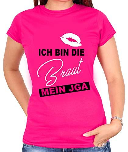 Junggesellinnenabschied Tshirt | JGA -Heute Wird gefeiert | JGA | Damen Shirt | Party, Hochzeit, Feier | Braut | Braut Team | Gr. XS-3XL (M, Braut (Pink))