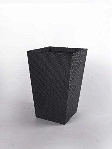 Keter Rattan Curver Vaso da Fiori Piccolo, 29 x 29 x 44 cm, Grigio