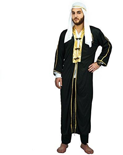 SEA HARE Disfraz de Jeque árabe del Príncipe árabe de los Hombres