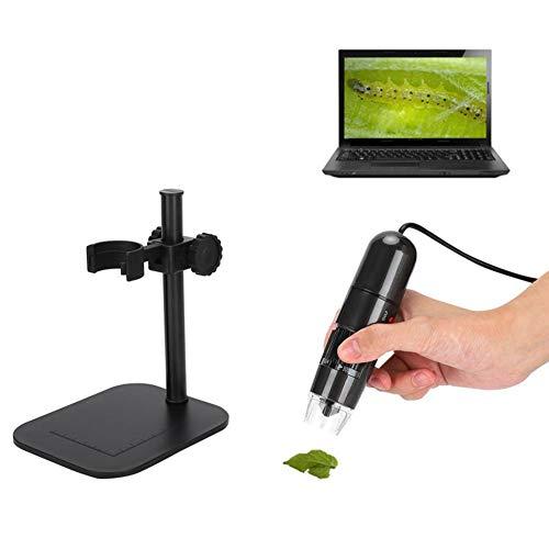 QICHENGBIN Amplificador de Pantalla del teléfono 50-1000X portátil USB microscopio Digital 8 LED Lupa de la cámara endoscopio con Soporte de elevación for el Triunfo XP/Vista Win Win 7 10