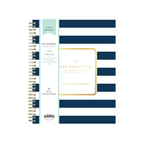 Day Designer for Blue Sky 2020 Daily & Monthly Planner, Frosted Flexible Cover, Twin-Wire Binding, 8