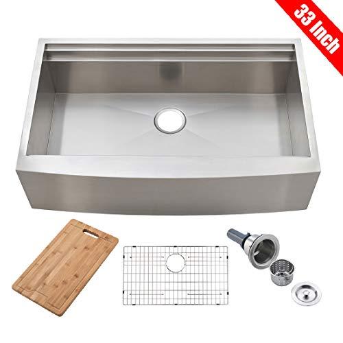 Stainless Steel Single Bowl Apron Farmhouse Kitchen Sink
