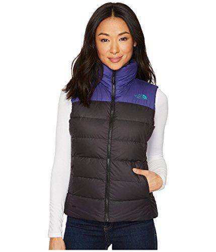 The North Face Women's Nuptse Vest, Black/Bright Navy, Small