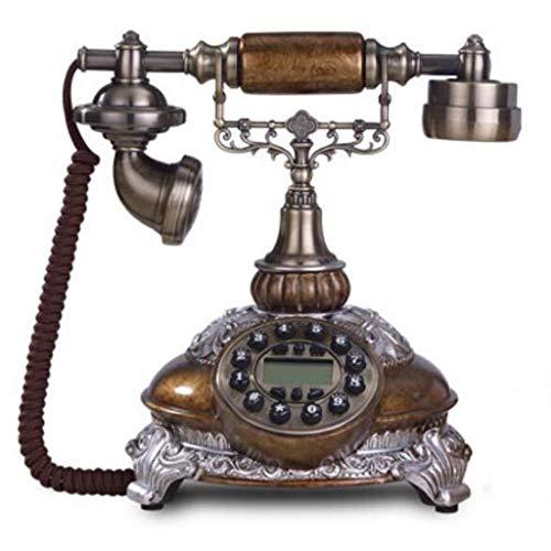 FHISD Teléfono Rotativo Teléfono clásico Oficina Dial de Estilo Vintage Características de teléfono Fijo Timbre Tradicional y botón pulsador Teléfonos Antiguos Francés Retro Hogar Línea Fija Esmal