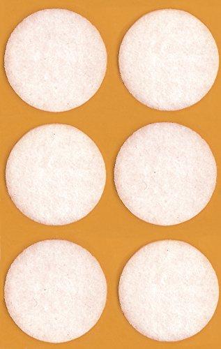 Preisvergleich Produktbild AVERY Zweckform 59465 Filzgleiter,  Filz (starker Halt) 6 Aufkleber weiß