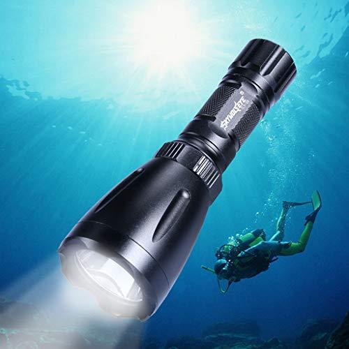 AmyGline LED Taschenlampe Skywolfeye Q5 LED Tauchen Taschenlampe Unterwasser 80M Torch 18650 Wasserdicht Taschenlampe