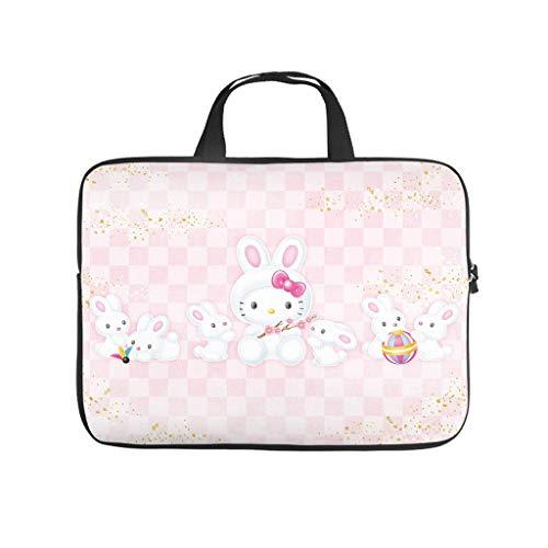 Bolsa para ordenador portátil, resistente al agua, diseño de conejo de Pascua