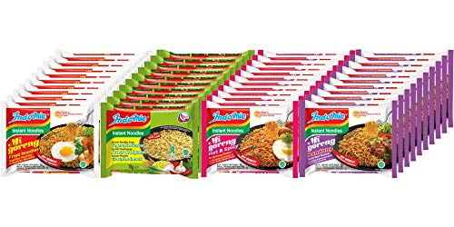 Indomie Instant Noodles, Customised 40-Pack / 4 Flavours x 75-80g Packets /...