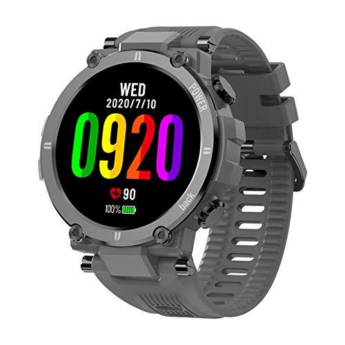 XYZK Nuevo 2021 Reloj Deportivo Al Aire Libre RUESTRO ROGADO Bluetooth Full Touch Smart Watch IP68 Rastreador Impermeable Moda Smartwatch Hombres,B