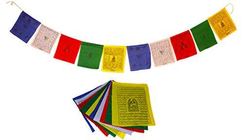 Juccini Tibetan Tranquil Wind Horse Lungta Prayer Flags -Flags (Medium-Pack of 50(7.5' x 7'))