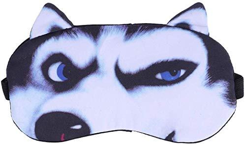 SLM-max Lustige 3D-Stereo-Augen-Schablone, Husky Cartoon Eisbeutel Brille, Blackout Schlaf Baumwolle atmungsaktiv Ice Schutz Augenschutz