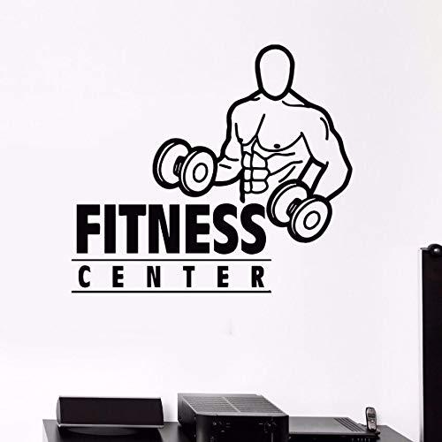 Tianpengyuanshuai Gym Muurtattoo Afneembaar vinyl Bodybuilding Muurschildering Fitness Club Muursticker 50X44cm