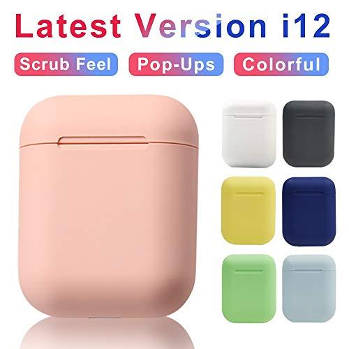 Auriculares inalámbricos Macaron i12 TWS Bluetooth 5.0 en audífonos estéreo con botón táctil y micrófono HD Caja azul i12 D