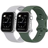 Recoppa Kompatibel mit Apple Watch Armband, Silikon Armband mit Druckverschluss für Apple Watch...