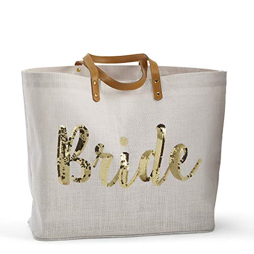 Mud Pie womens Bride Gold Sequin Tote, Gold Sequin, One Size US