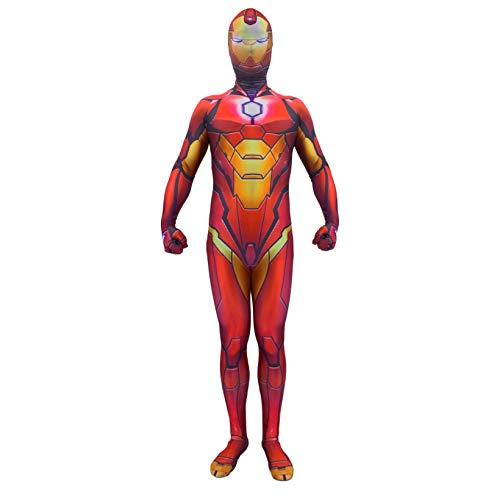 Hombre de hierro 3D cosplay traje, superhroe halloween disfraces de lujo de elegante traje de carnaval, los avengadores Pelcula Tema Theme Party Disfraz Props Onesies Traje,Red-Adults~M(150~160cm)