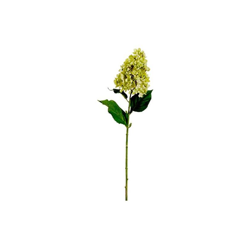 """silk flower arrangements 28"""" silk cone hydrangea flower spray -lime (pack of 12)"""