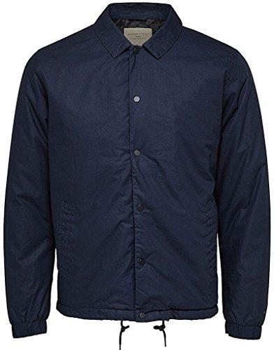 SELECTED HOMME Herren SHHCOACH Padded Jacket Jacke, Blau (Dark Sapphire), Large