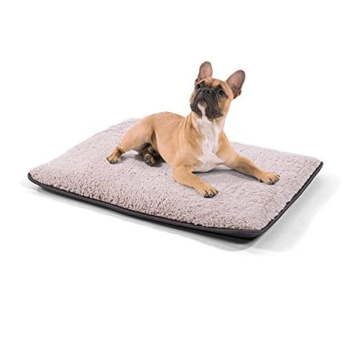 Brunolie Finn - Hundedecke, geruchsneutral, hygienisch und rutschfest, waschbare Hundematte in Beige, passend für das Auto, Größe S (68 x 54 x 5 cm) Beige