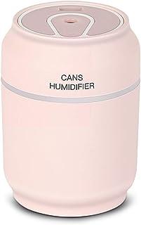 Manyao 多機能ミニ空気加湿器LEDナイトライトミストメーカー (ピンク)