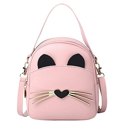 mini bags RARITYUS Girls Cute Cat Mini Backpack Casual Daypack Small Crossbody Bag Tote Handbag Purse for Women