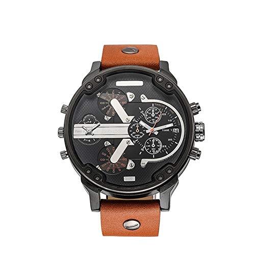 Reloj de Cuarzo ZHANGZZ Reloj de Gama Alta, CAGARNY Reloj de Cuarzo para Hombre, Moda, Hombre. (Color : 2)