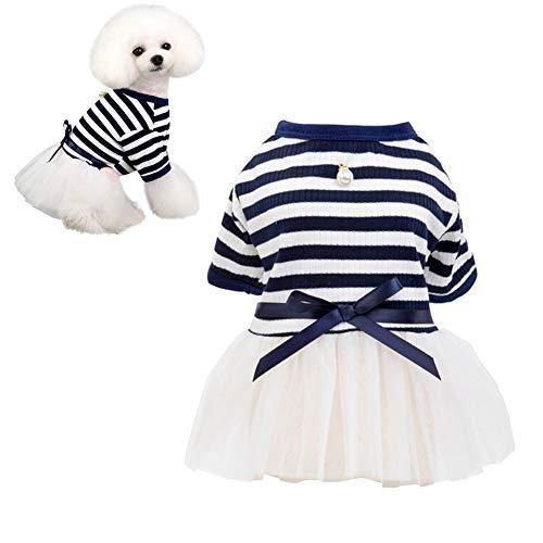 MEISISLEY hundekleid Katzenkleid Hundekleidung für kleine Hunde Haustier Party Kleid Brautkleider für Hund Hundekleidung Welpenkleidung Katzenkleidung Blue,xs