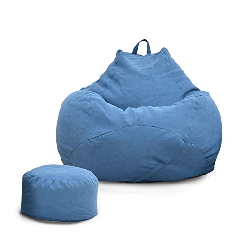 DJFIOSD Bean Bag Recliner, Waterproof Indoor Outdoor Bean Bag Chair Home Decoration Bean Bag Cover Large Non-Filled Adult Child Soft Lazy Recliner,E