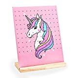 Oaoleer Earring Holder Stand, 120 Holes Earring Organizer Jewelry Rack Display for Girls (Pink unicorn)