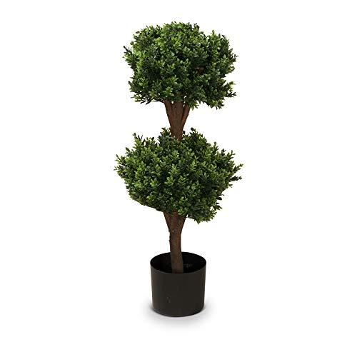 Buchsbaum Kunstpflanze PHILIPP Kunstbaum, Buxbaum, künstlicher Buchsbaum mit Naturstamm in versch. Größen