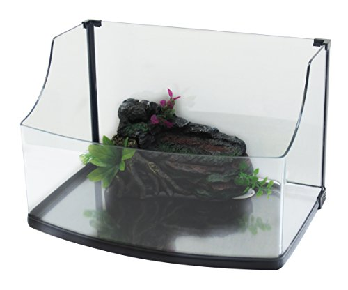 CROCI Design Aquarium de Tortue 50 x 34 x 21/33 cm